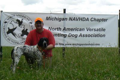 NAVHDA Natural Ability Test - Braque d'Auvergne Hunting Dog Pictures