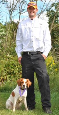 NAVHDA VERSATILE CHAMPION - French Brittany Spaniel Hunting Dog Pictures