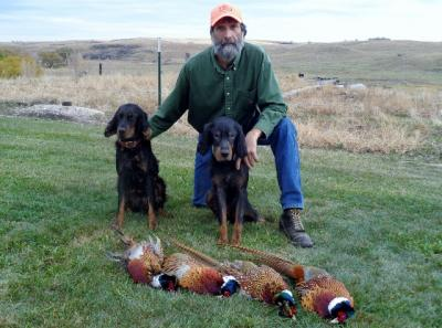 CG and Woody on a pheasant hunt in ND